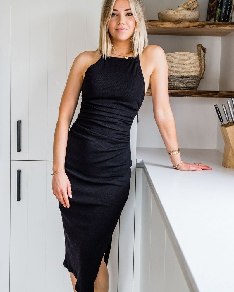 Xenia Midi Dress Black