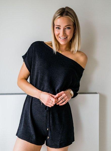 Xenia Playsuit Black