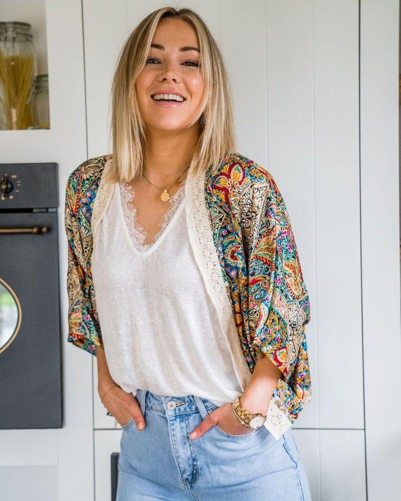 Boho Kimono Short