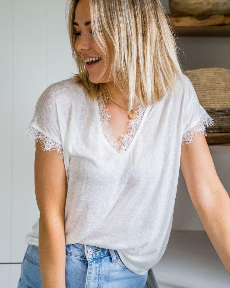 Perfect Lace T-shirt White