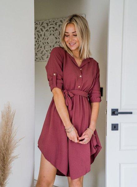 Valery Dress Raspberry