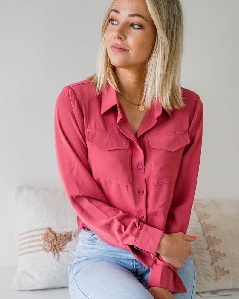 Eva Blouse Raspberry