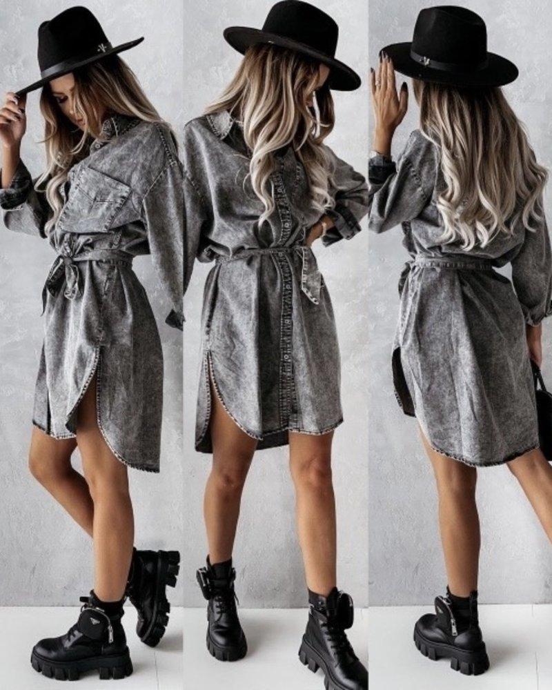 Cilia Jeans Dress Grey
