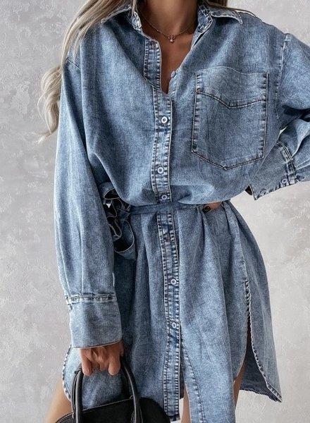 Cilia Jeans Dress Blue