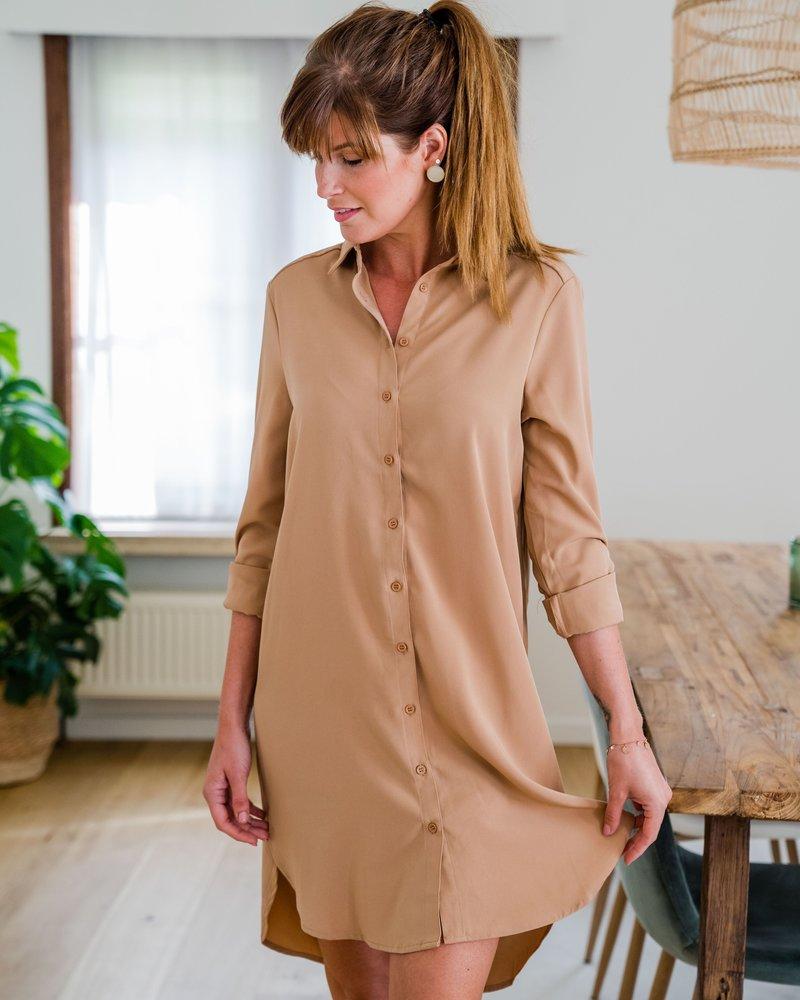 Shirtdress Camel