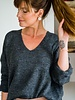 Lily V-Sweater Darkgrey