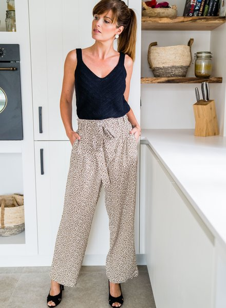 Panter Spotted Pants Beige