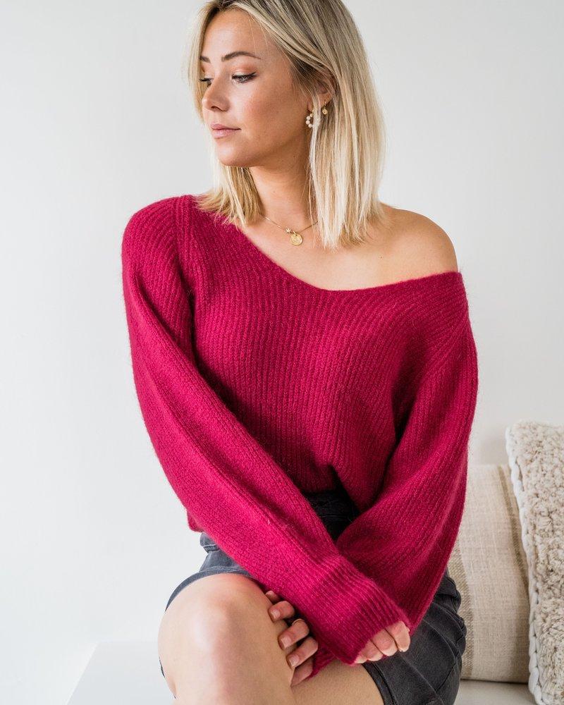 Milla Sweater Raspberry