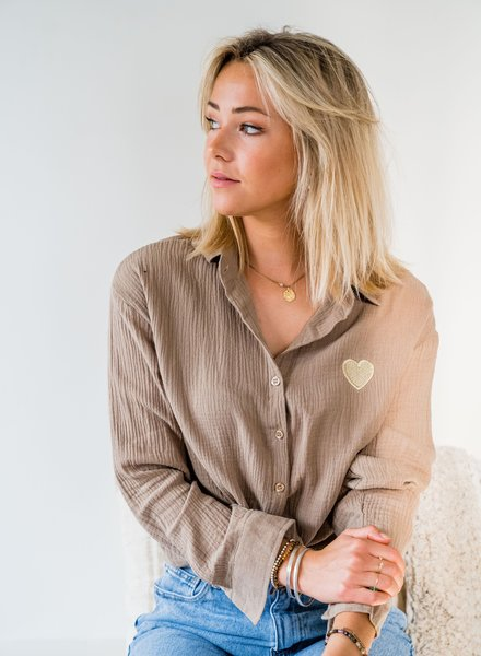 Lovely Blouse Taupe