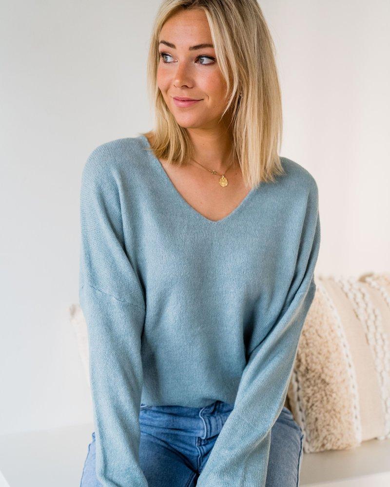 Lily V-Sweater Mint
