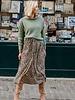 Leopard Maxi Dress Beige