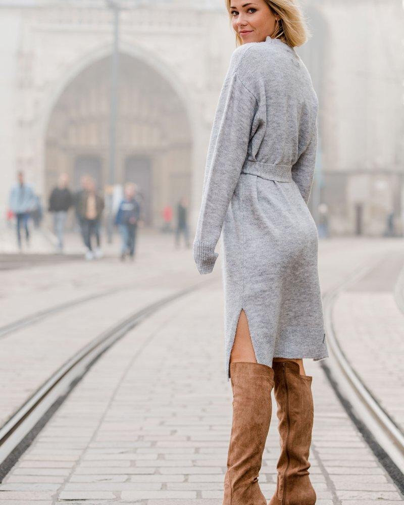 Lui Belt Dress Grey