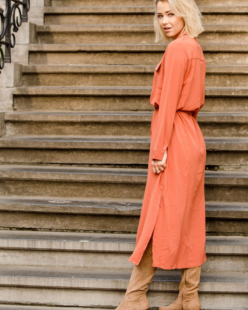Lieze Maxi Dress Brique