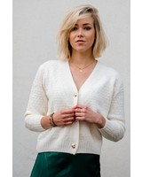 Love Buttons Gilet White