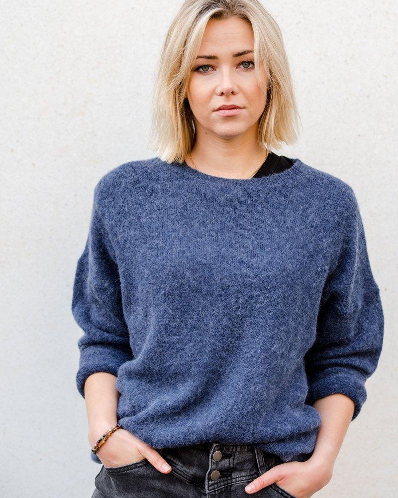 Loose Sweater Navy