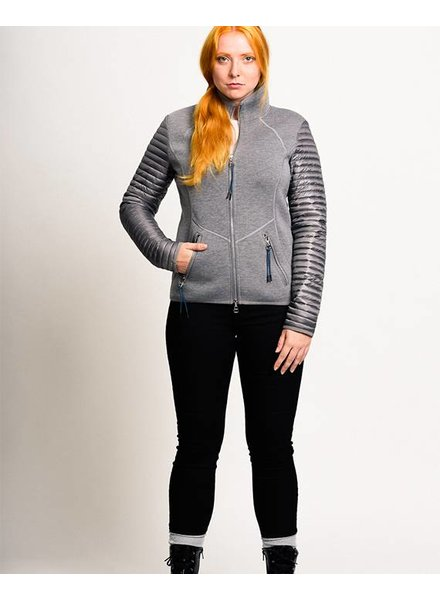 Women scuba jacket in grey