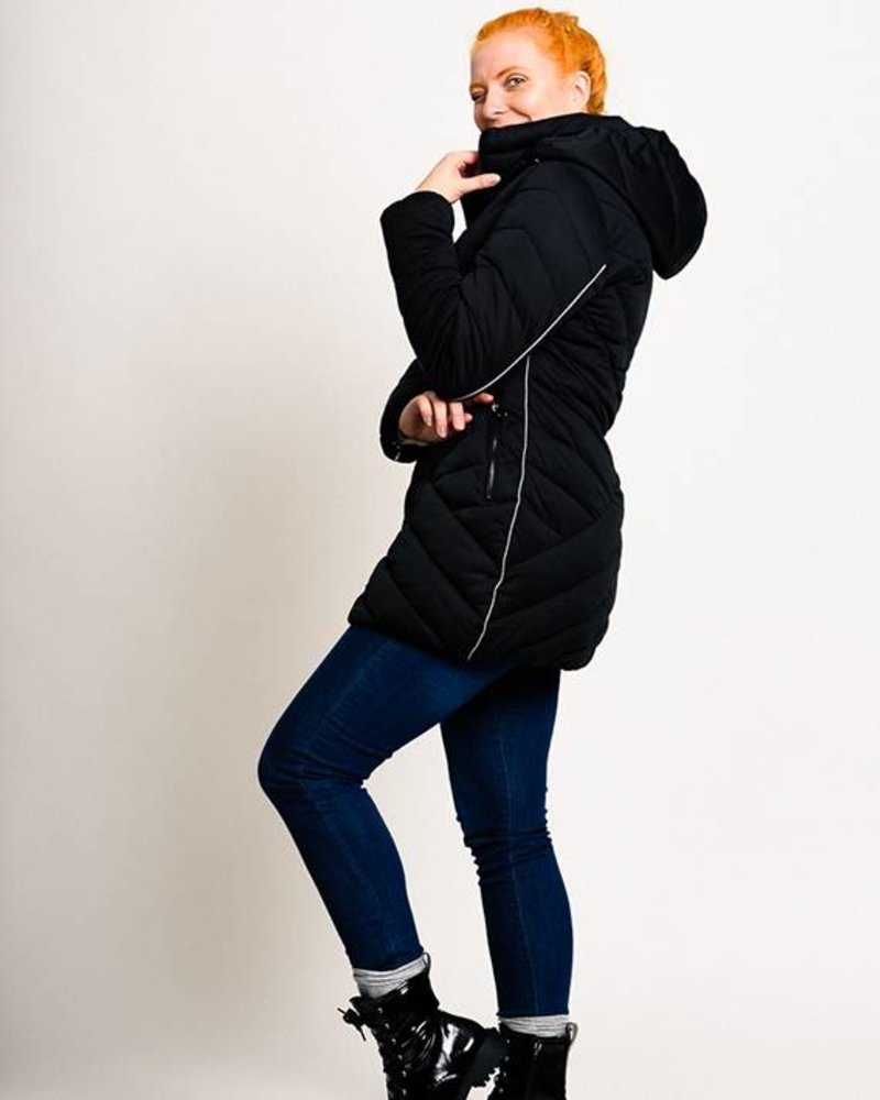 BlarS Winter jacket in dark blue  with reflecting details