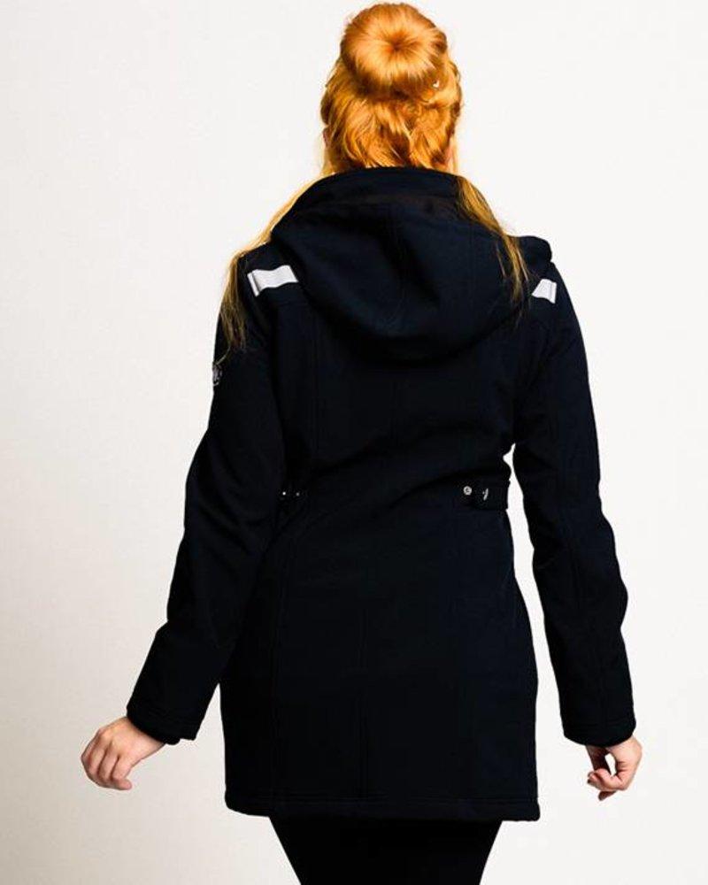 BlarS Damen Softshell-Jacke in schwarz