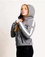 AUSVERKAUFT -  HIGHLIGHT  Damen Scuba-Hoody in grau
