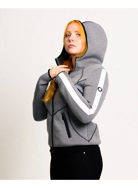 H I G H L I G H T  Women Scuba Hoody in grey