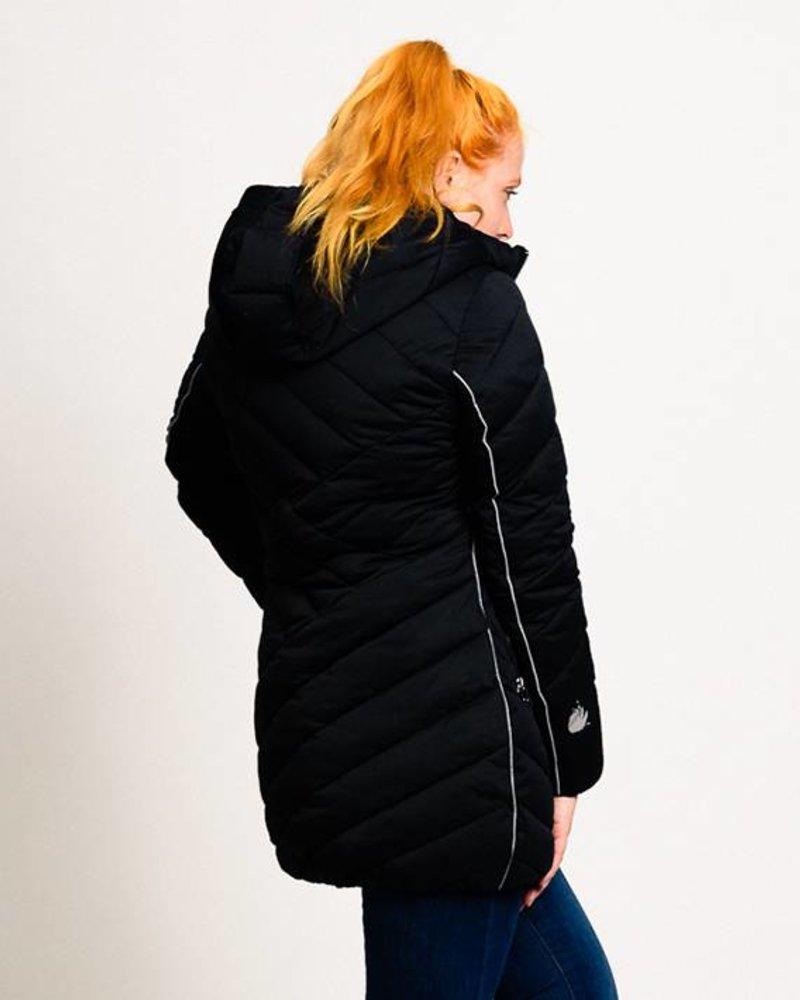 separation shoes e430b 7f194 BlarS Damen Winterjacke in schwarz mit reflektierenden Details