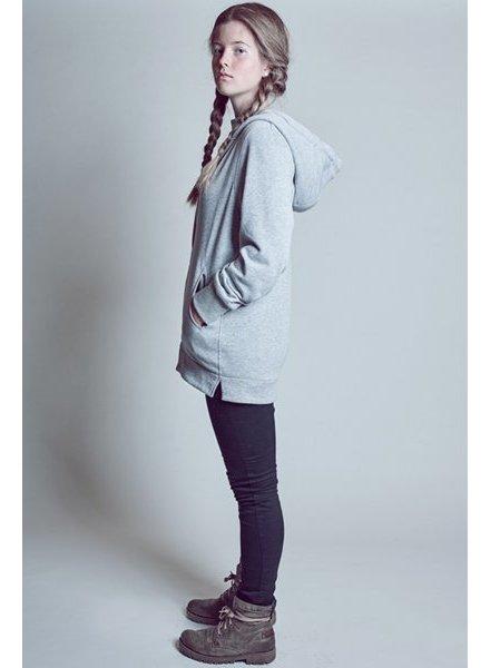 B E S T S E L L E R Women Hoody in grey with mesh