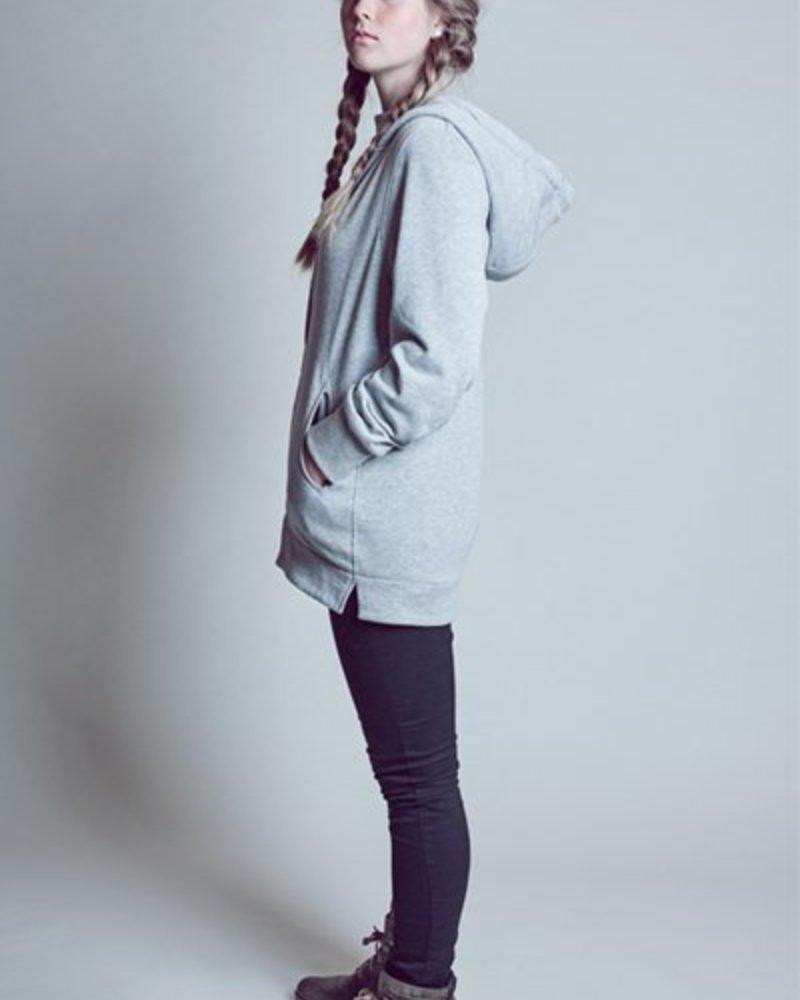 S A L E  !!!  BlarS women hoody in grey sweatwear with mesh application