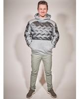 men winter sweater in color grey melange