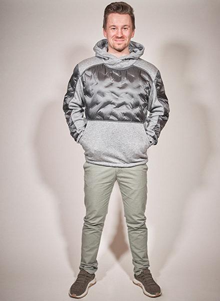Herren -Winterpullover in Farbe grau melange