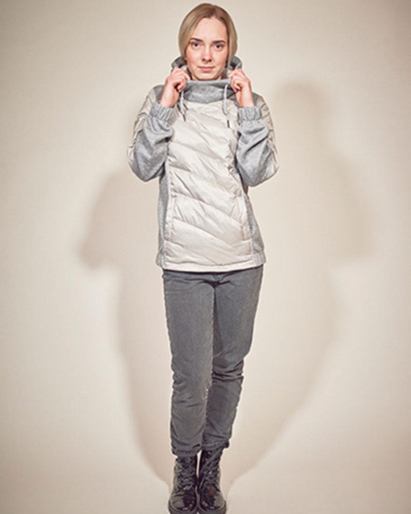 BlarS Damen-Winterpullover in  Farbe grau melange mit reflektierenden Details