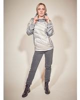 Ladies winter sweater in color grey melange