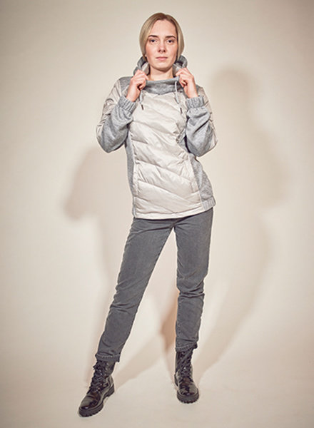 Ladies winter sweater in color grey melange