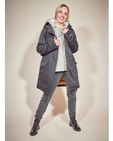 Ladies winter jacket in color black
