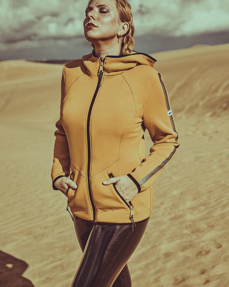 BlarS Women Scuba-Hoody in mustard