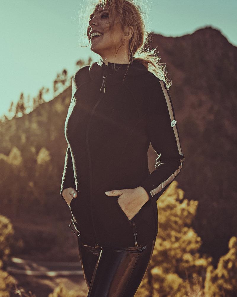 BlarS Damen Scuba-Hoody in schwarz