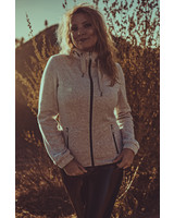 Women Fleece  Cosy Jacket in light grey