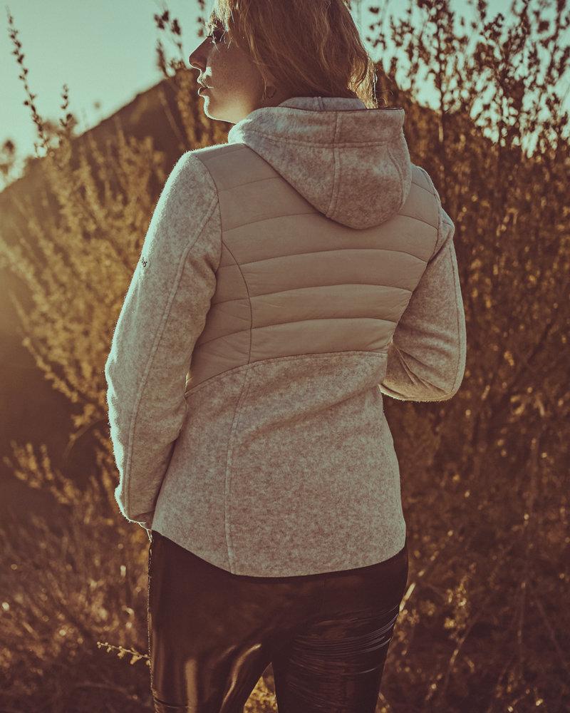 BlarS Damen Fleece -Cosy-Jacket in hell grau