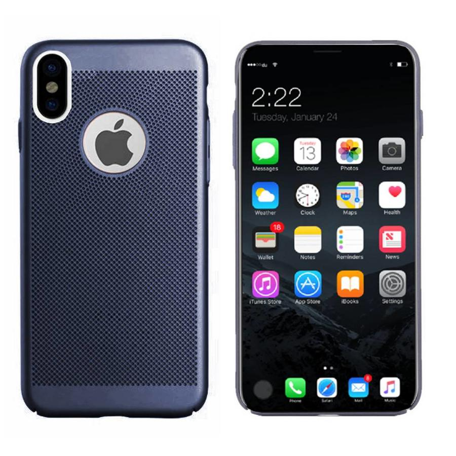 BackCover Holes Apple iPhone X/Xs Blauw