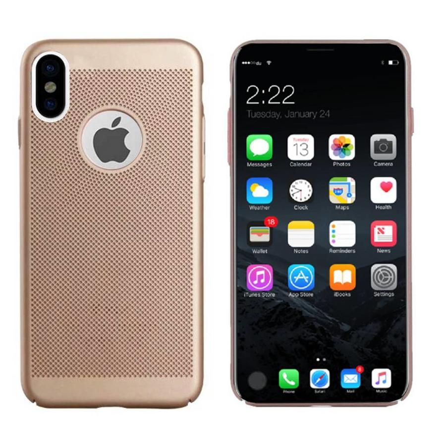 BackCover Holes Apple iPhone X/Xs Goud