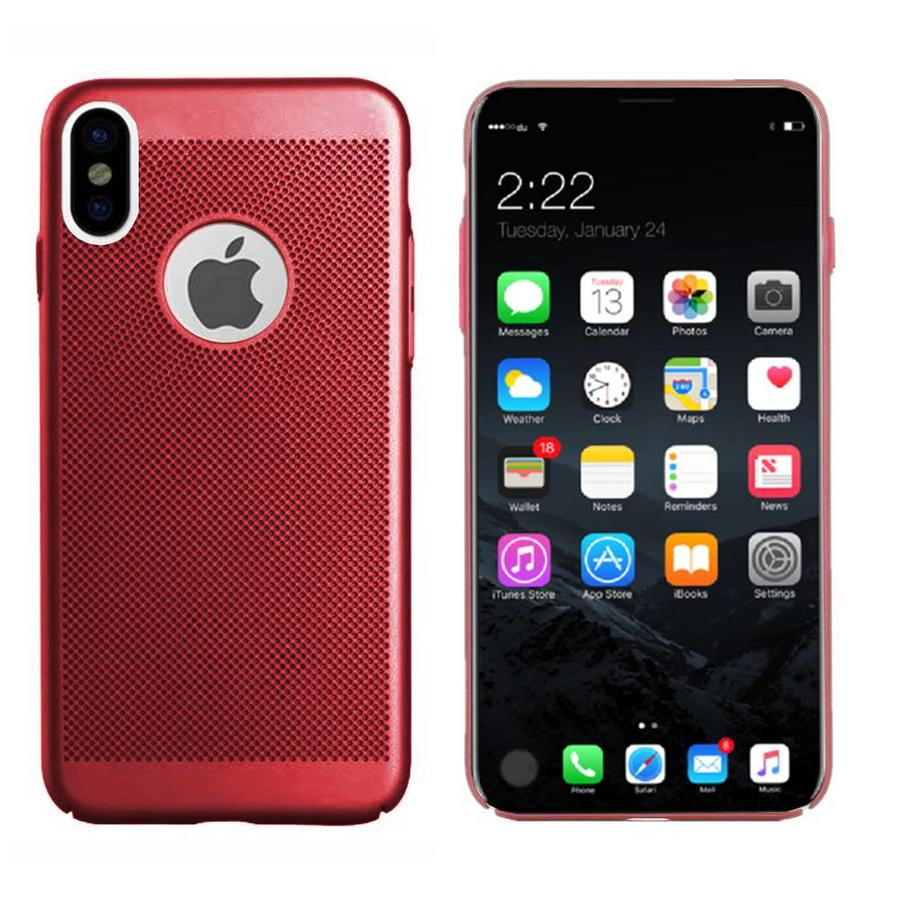 BackCover Holes Apple iPhone X/Xs Rood