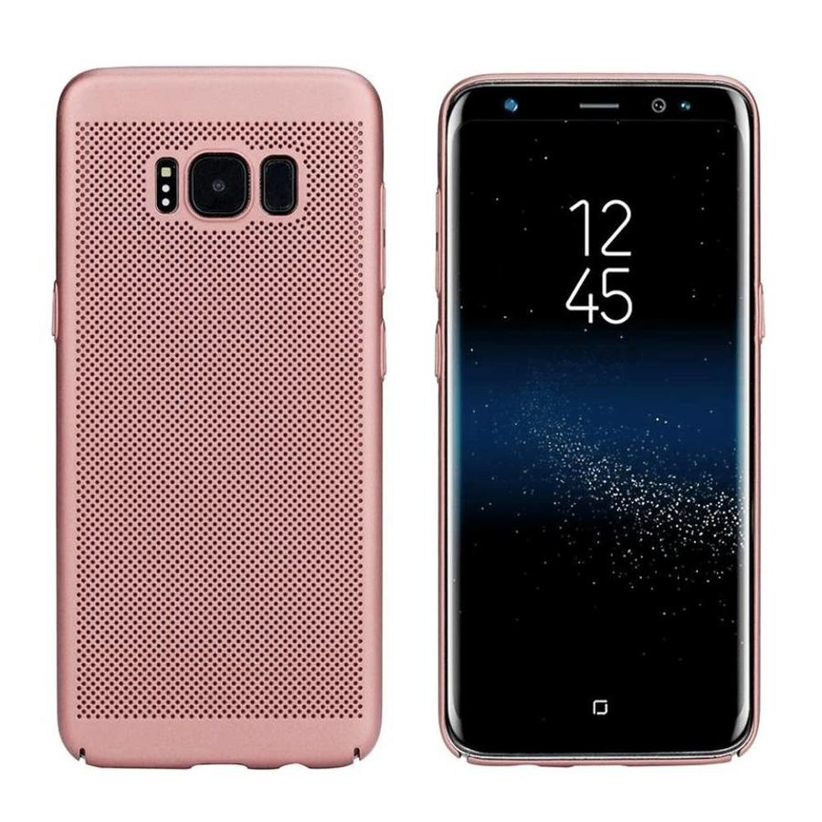 BackCover Löcher Samsung J7 2016 Rose Gold