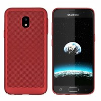 BackCover Holes Samsung J7 2017 Rood