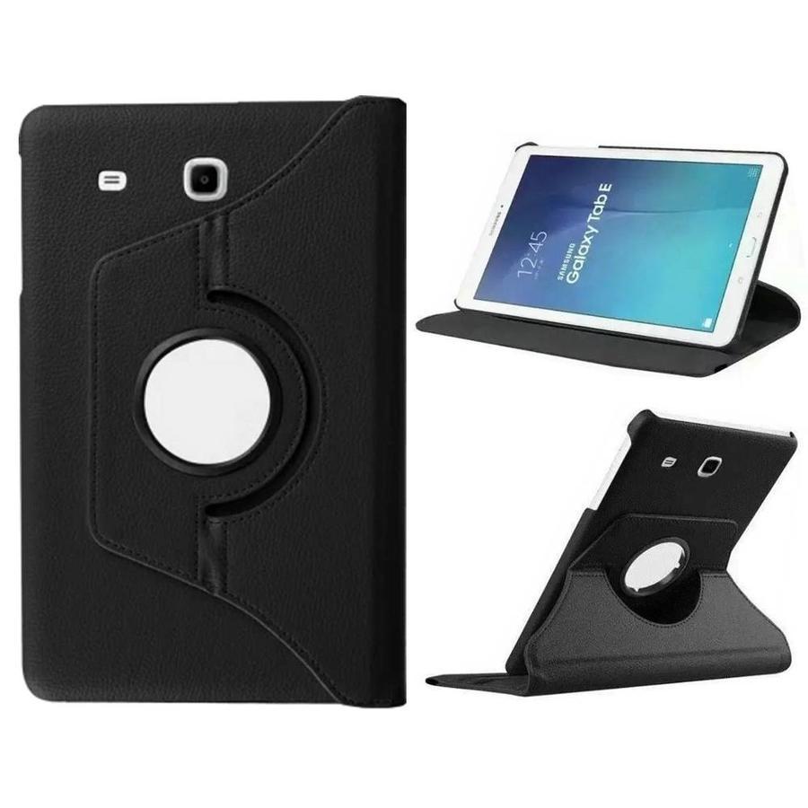 Hoesje 360 Twist Samsung Galaxy Tab E 8 Zwart