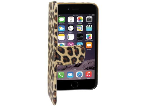 Colorfone Book PU1 iPhone 6 Plus Luipaard