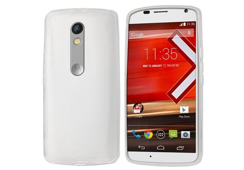 Colorfone CoolSkin3T Moto X Play/Dual Sim Tr. Wit