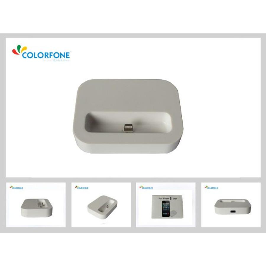 Charger Docking Station for iPhone 5/iPod Touch 5/iPod Nano 7 White