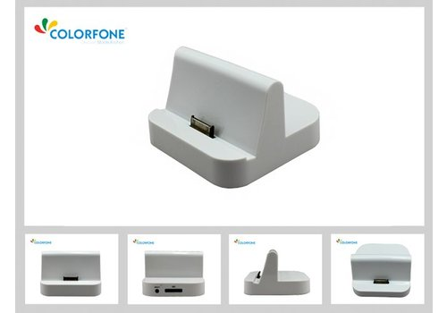 Colorfone Charger Docking Station iPad White