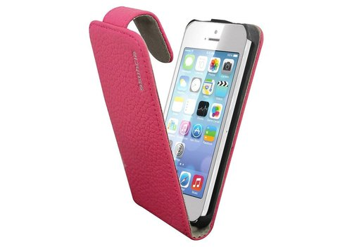 Suncia Leather1 iPhone 5C Klassiek D. Roze