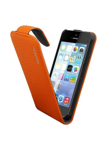 Suncia Leather1 iPhone 5C Klassiek Oranje