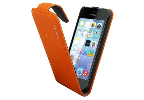 Suncia Leather1 for iPhone 5C Classic Orange